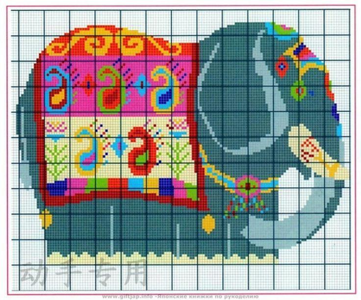 Encontrado en biutiulknit.blogspot.com Elephant