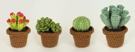 Crocheted succulents