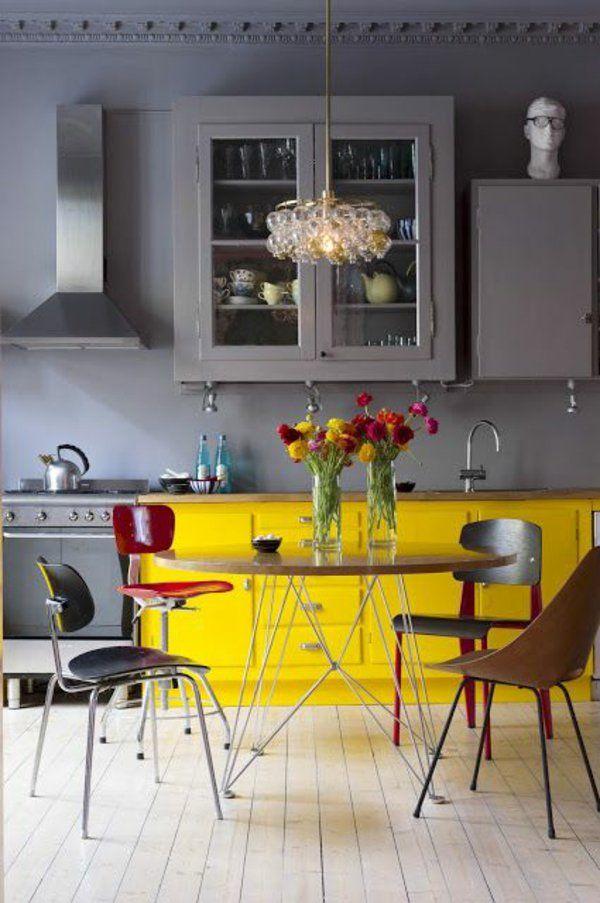... Die Besten 25+ Graugelbe Küche Ideen Auf Pinterest Grau Gelbes   Gelbe  Stuhle Passen ...
