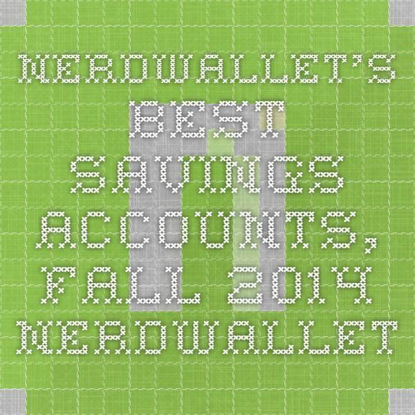 NerdWallet's Best Savings Accounts, Fall 2014 - NerdWallet