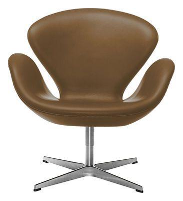 Fauteuil Swan chair version cuir