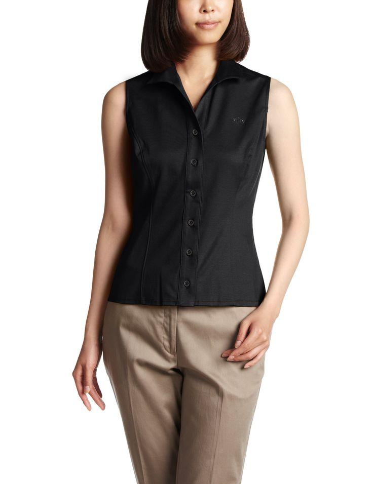 Amazon: (ナラ カミーチェ)NARA CAMICIE コットンスムースノースリーブシャツ