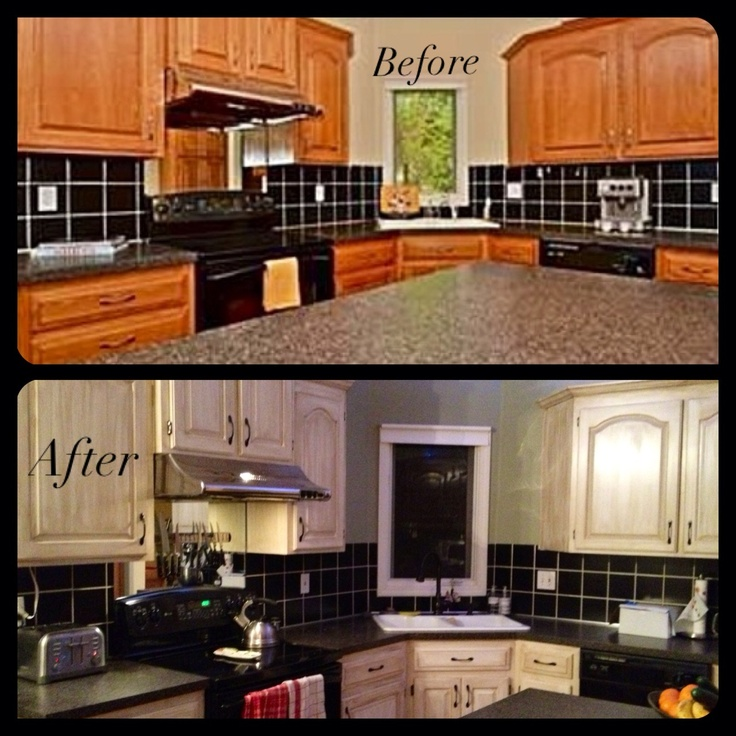 Kitchen Cabinet Refinishing Ideas: 1000+ Ideas About Refinished Kitchen Cabinets On Pinterest