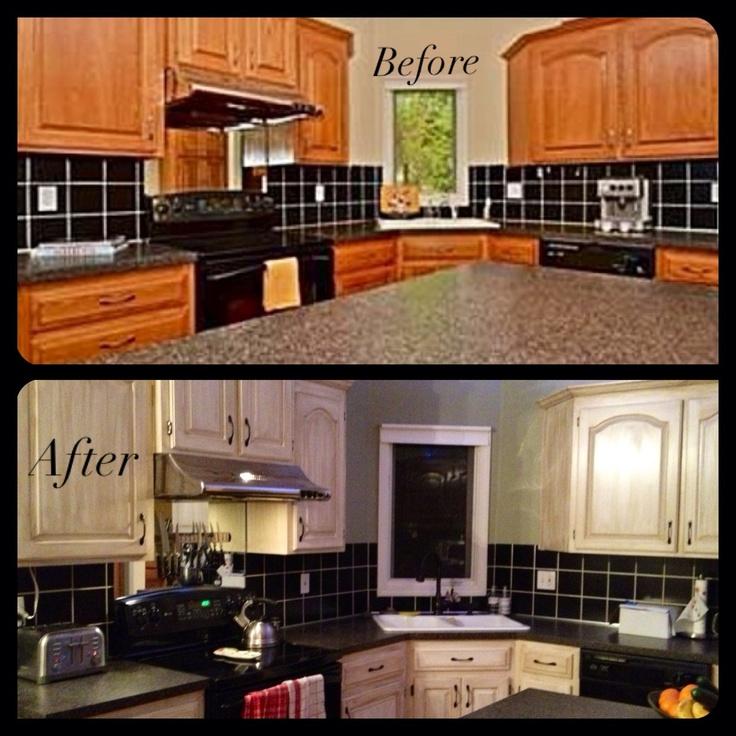 Kitchen Cabinet Restoration Ideas: 1000+ Ideas About Refinished Kitchen Cabinets On Pinterest
