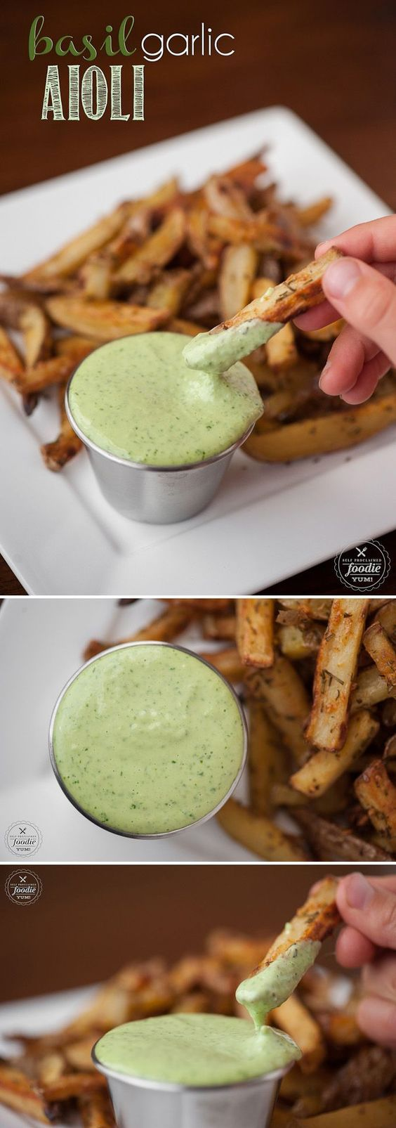 Making homemade Basil Garlic Aioli from scratch only takes a few minutes and the�