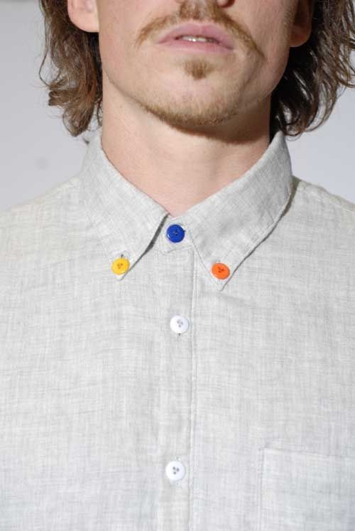 Fun way to swap out buttons and upcycle your boring button ups! I think I'll skip the facial hair though.