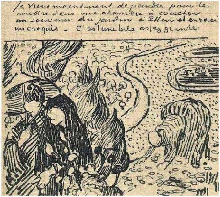 Memory Of The Garden At Etten Vincent Van Gogh Letter Sketches Arles 16 Nov 1888 Van Gogh