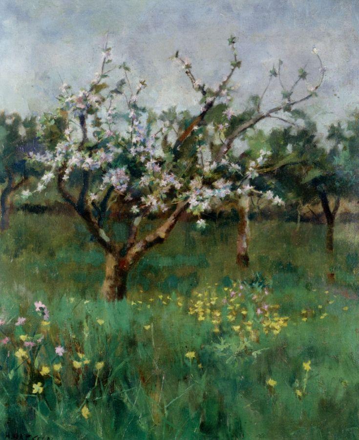Harold Harvey (English, 1874-1941) Apple Blossom Oil On Canvas -1892
