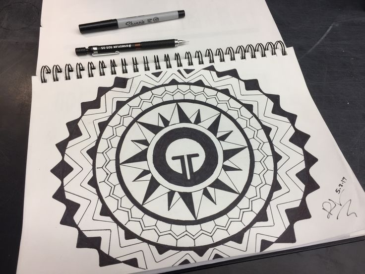 Filipino tribal pattern Tattoos designed as mandala