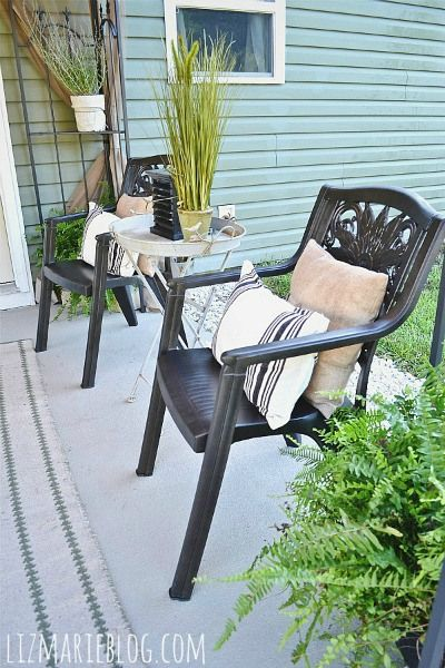 How To Paint Plastic Furniture & A Makeover -