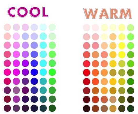 We love seeing the warm and cool colours here... Makes it much easier to pick your colour tones.