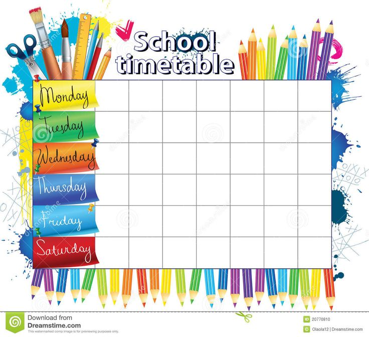 7 best Rozvrh images on Pinterest Class schedule, School - study timetable