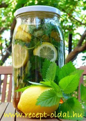 Lemon balm syrup - CITROMFŰSZÖRP