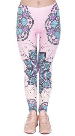 Mandala Legging Figuur Bloem Roze