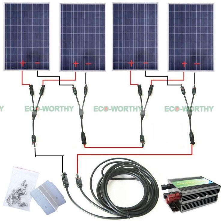 400watts Solar Module Kit 4 100w Pv Solar Panel For 24v