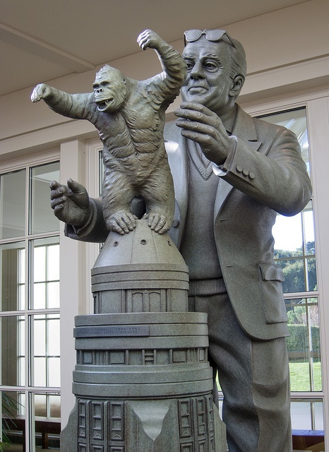 Willis O'Brien & King Kong Statue in the reception of the Letterman Digital Arts Center in the Presidio.