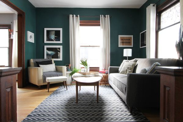 Dark Teal Living Room | deuce cities henhouse | Minneapolis MN
