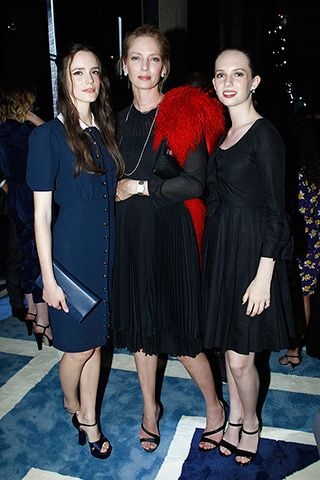 Stacy Martin, Uma Thurman, and Maya Hawke.