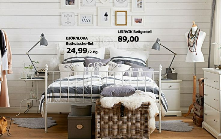 Limited Ikea Kejsarkrona Collection White Bed Leirvik