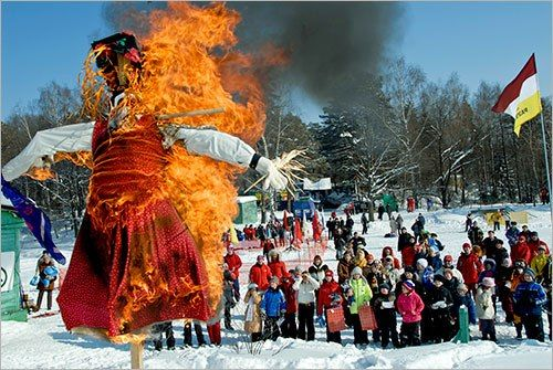 Sixth day of Maslenitsa ( is an Eastern Slavic religious and folk holiday) - Zolovkina gatherings