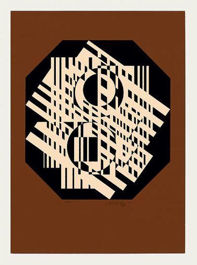 """Victor Vasarely: """"G-Linn"""" (1951/56) http://www.kunsthaus-artes.de/de/763848.00/Bild-G-Linn-1951-56/763848.00.html#cgid=t_geometrie&start=18"""
