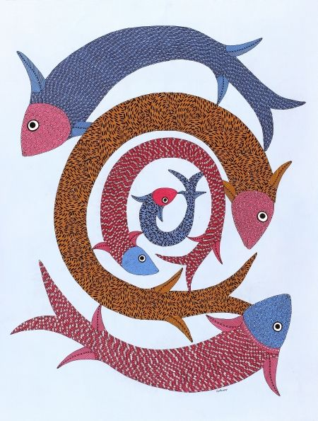 GOND ART, GOND PAINTINGS, INDIAN TRIBAL ART, GOND TRIBAL ART, TRIBAL ART GALLERIES, GOND ART GALLERY, TRIBAL ARTISTS at MUST ART GALLERY IN DELHI INDIA caters the Whole of Europe and USA.