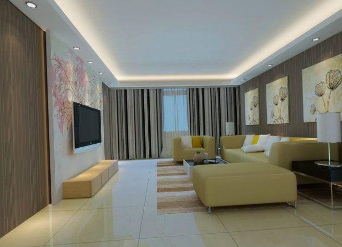 Дизайн потолка гостиная