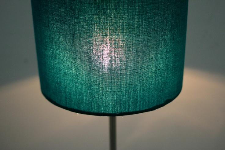 Lampenschirm türkis transparent