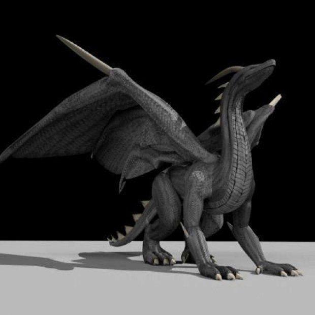 kost drak - 3D model - obj