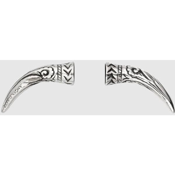 Gucci Anger Forest Magnetic Nose Piercing (6,610 MXN) ❤ liked on Polyvore featuring jewelry, sterling silver jewellery, gucci jewellery, sterling silver jewelry, gucci jewelry and gucci
