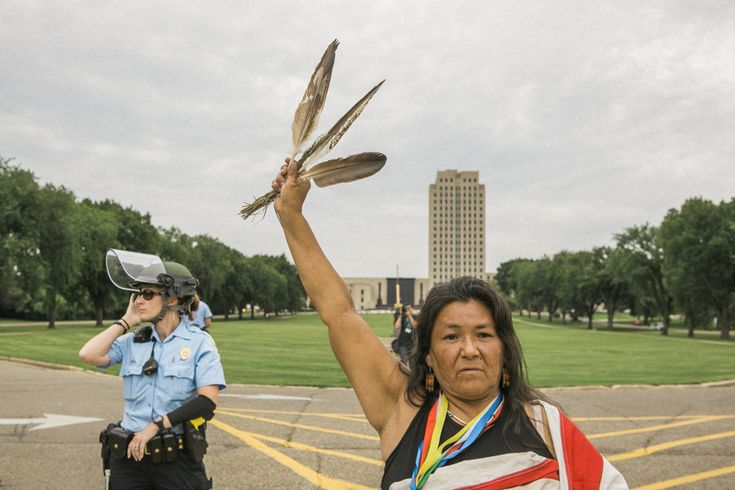 """""""Mni wiconi—Water is life. This is an issue for all people, not just native communities. The protectors who are camped out here are determined to save the water not only for their own families but for everyone."""""""