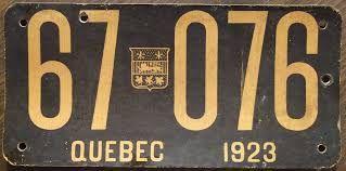 Résultats de recherche d'images pour «old quebec license plates»