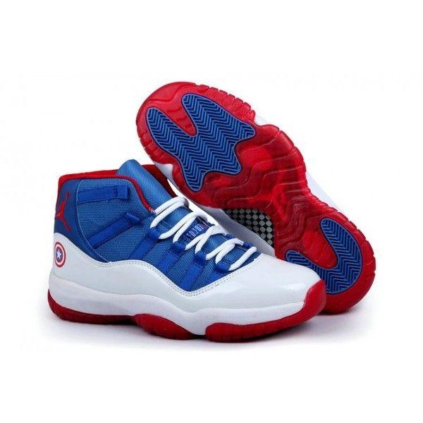 the latest 23b15 e0c1d Nike Air Jordan 4 Womens Captain America White Blue Sneaker ( 95)   liked on
