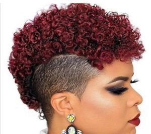 11 Burgundy Mohawk For Women Find This Pin And More On Short Natural Hairstyles