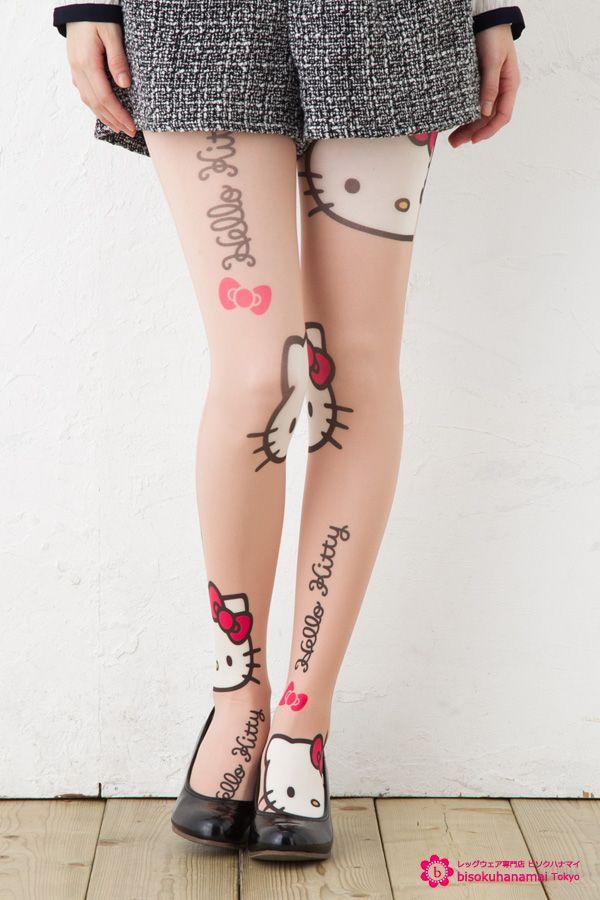 hello kitty pattern tights