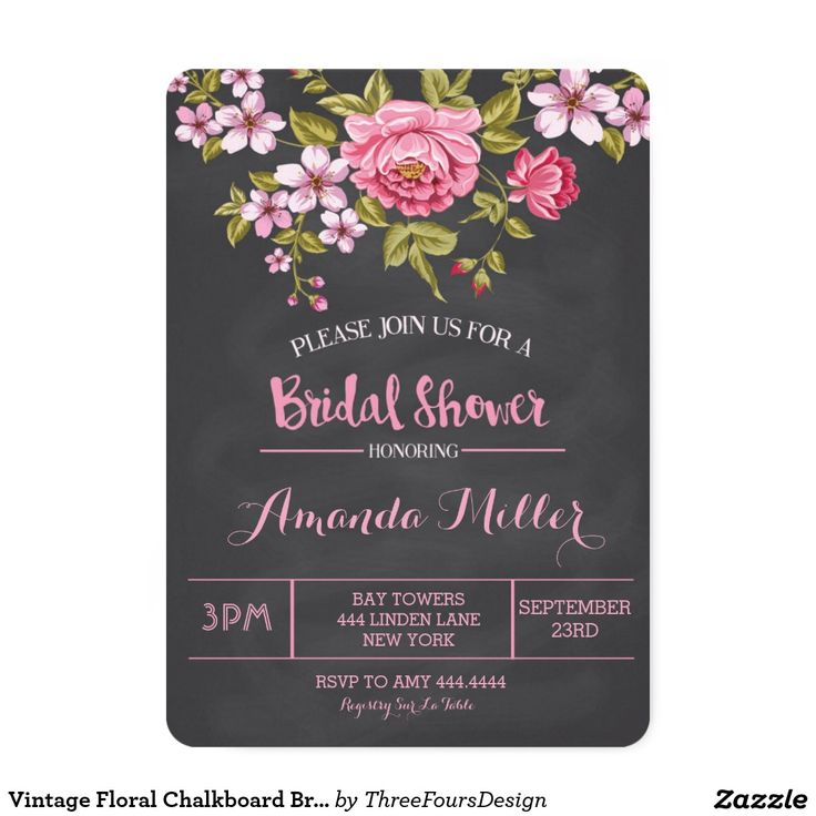 Vintage Floral Chalkboard Bridal Shower Invitation. Elegant Chalkboard Bridal Shower Invitation Templates. Classy bridal shower invitations that you can order online. Customized for the new bride to be. Elegant bridal shower invitation that feature a nice chalkboard background, great design and typography. Click image to customize. Feel free to like or repin.