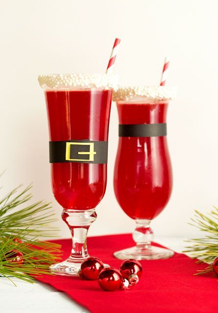 Christmas Punch-Santa Style how to - The Bearfoot Baker + recipe