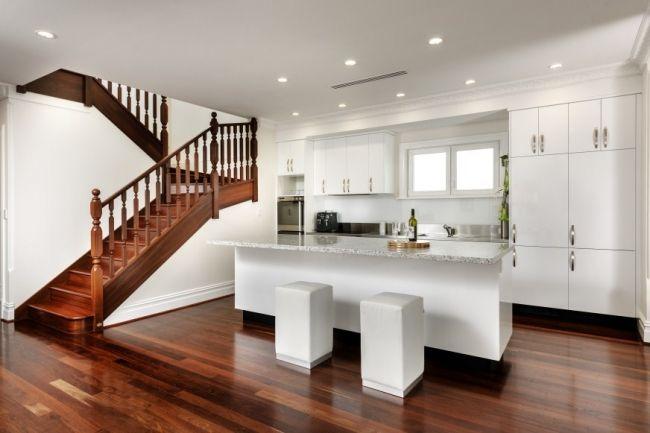 The Renovated 1900s Australiana House | House Nerd  modern kitchen w/ jarrah floorboards