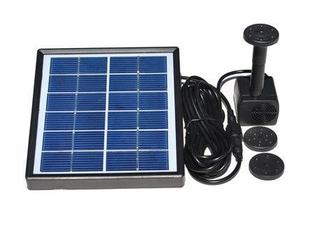 Add moving water to your bird bath and watch for new visitors! Solar fountain kit installs in minutes. Birds are guaranteed to check out the sight and sound of
