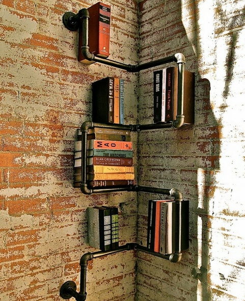 A Creative Book Shelf For Small Space Using Recycled Materials
