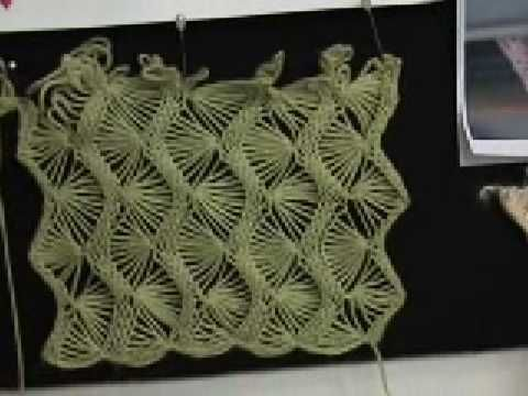 Machine knitting - fan lace