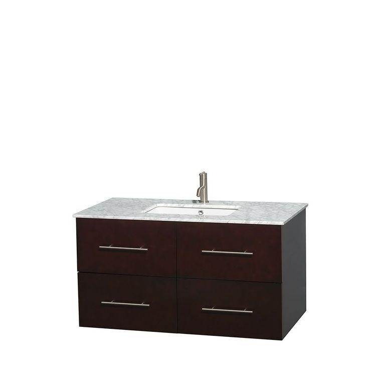 Photo Album Website Wyndham Collection Centra Espresso inch Single Carrera Marble Bathroom Vanity Espresso