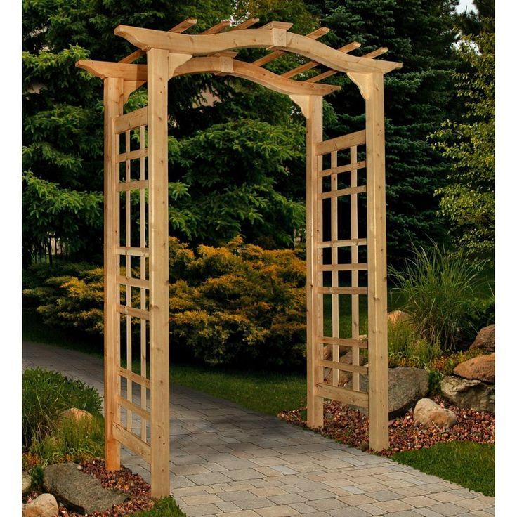 Cedar Garden Arbor Patio Archway Wedding Arch Trellis Backyard Party Decor New  | eBay