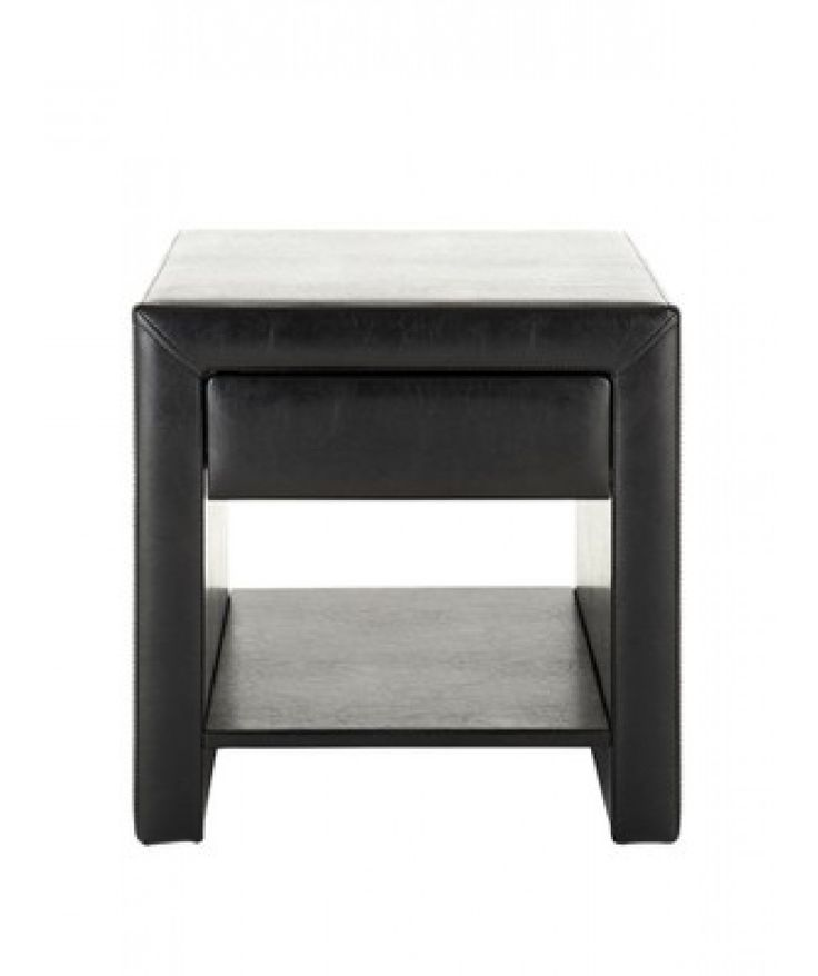 Cadiz fauz #leather bedside #table is finished in black, its high end design and quality will offer an eye catching look at first sight.