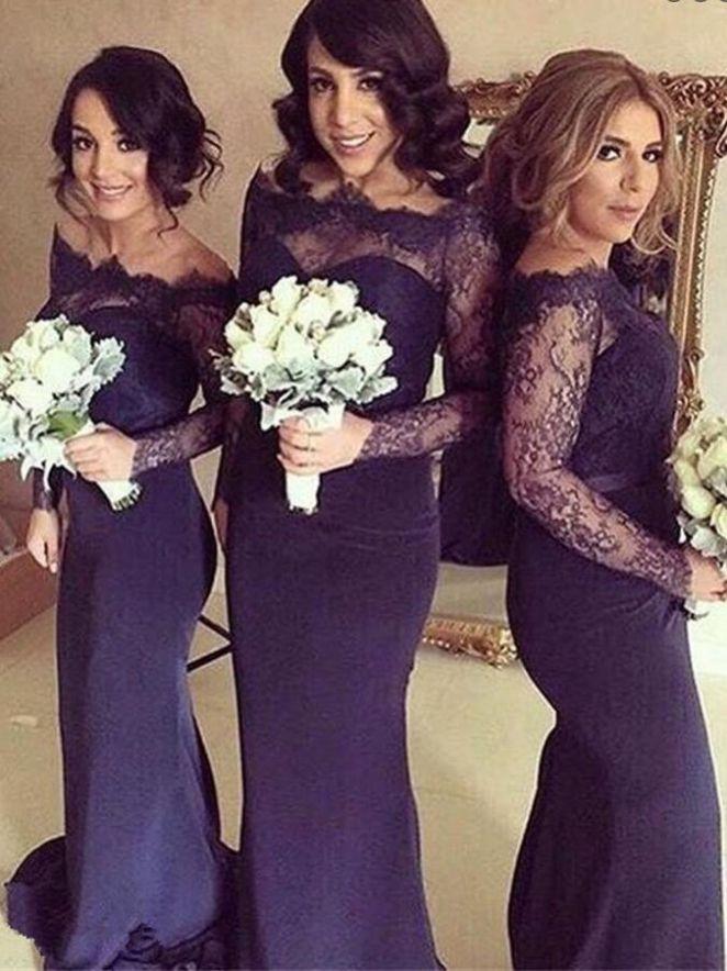 13 best Long Bridesmaid Dresses images on Pinterest | Flower girls ...
