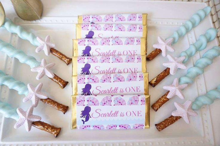 Scarlett's 1st Birthday Mermaid Party | CatchMyParty.com
