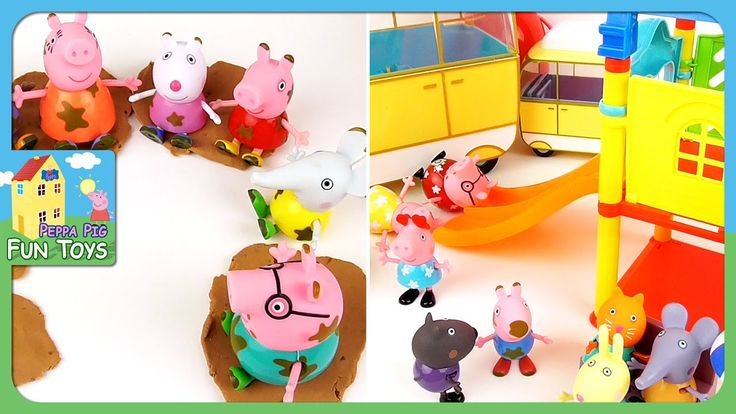 Peppa Pig English Episodes - New Compilation - Muddy Puddle Day and Frie...
