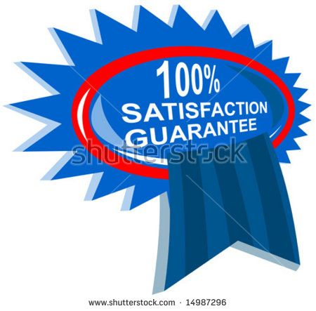 100% satisfaction guaranteed rosette  #satisfactionguarantee #retro #illustration