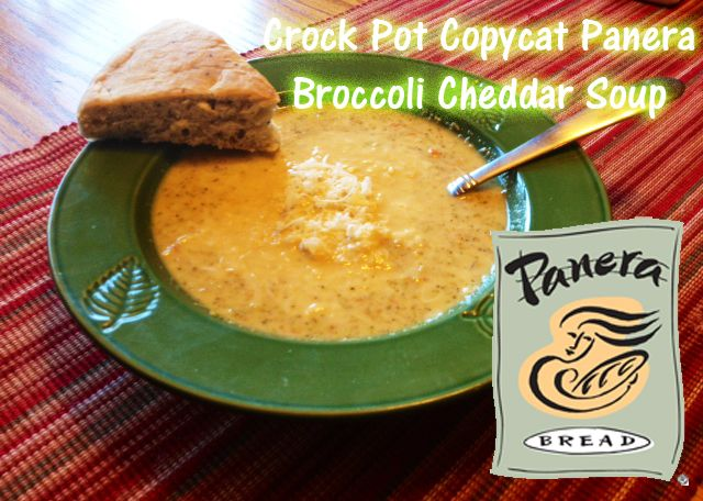 Crock Pot Copycat Panera Bread Broccoli Cheddar Soup. I've made this many times and it never fails to please the whole family. So good, so easy, and identical to Panera's amazing recipe.