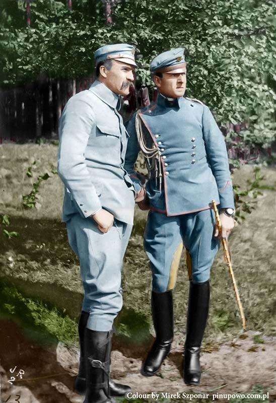 Józef_Piłsudski_wraz_z_swoim_adiutantem_Bolesławem_Wieniawą-Długoszowskim_1916rkm